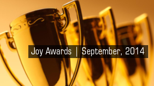 Joy Awards | September, 2014